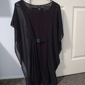 H&M belted blouse dress